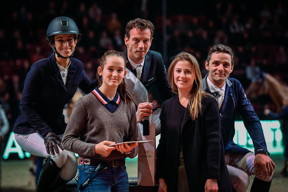 2018.01.14.99.99 Basel CSI 5 Trois Rois Harrie Smolders Podium Katja Stuppia