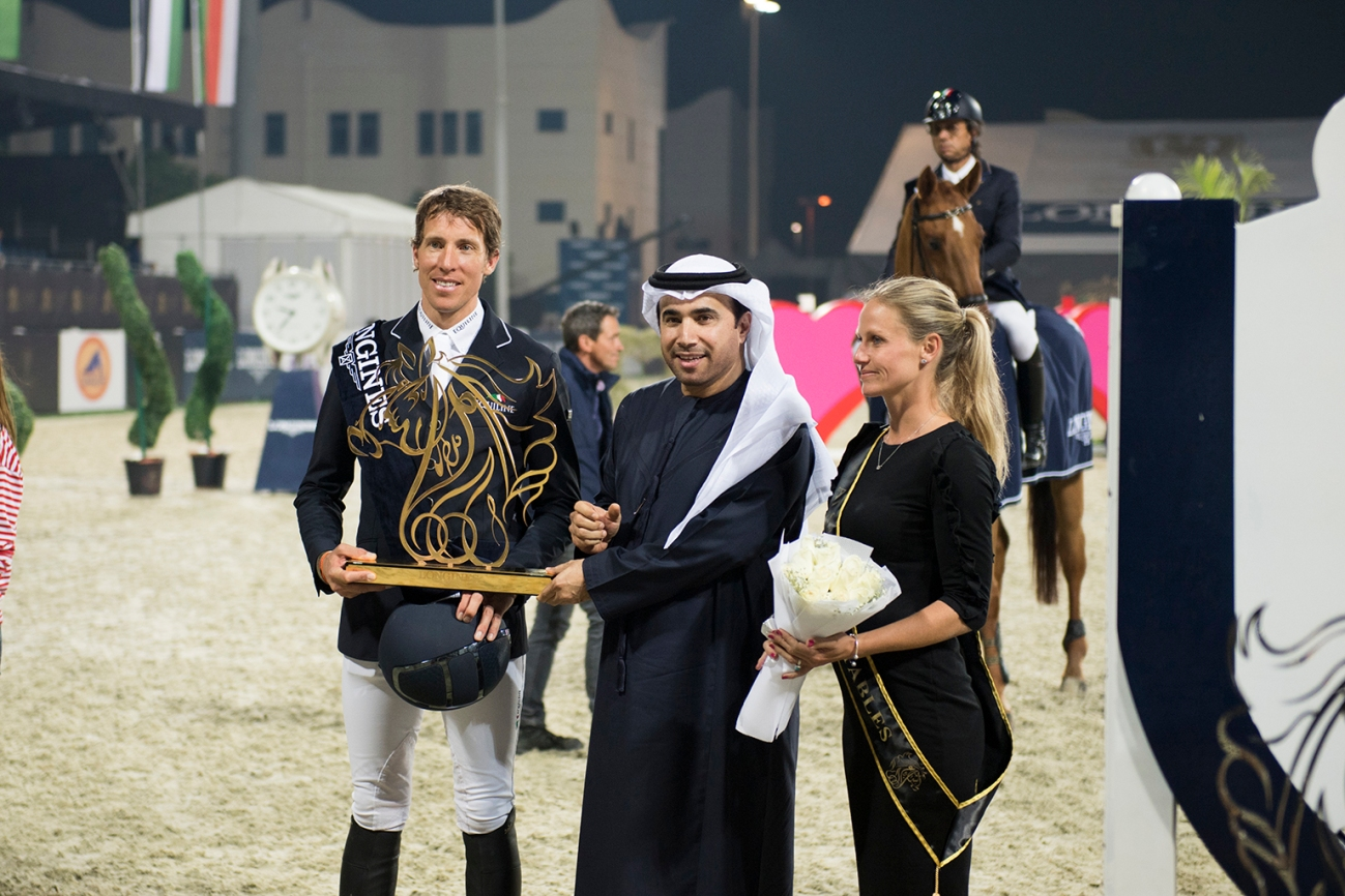 L-R Henrick Bon Eckermann and HE Major General Dr Ahmed Nasser Al Raisi, President of the UAE Equestrian and Racing Federation