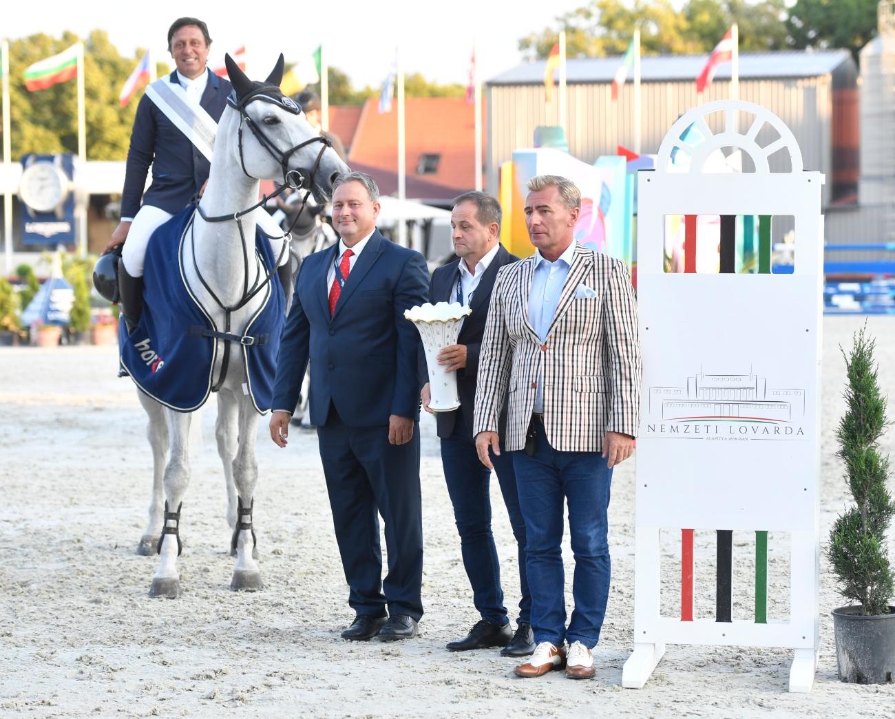 2018.08.12.99.99 CSIO Budapest 5 Exim Cel Luis S. Gonçalves & Dominka vd Lucashoeve Hadju Krisztina