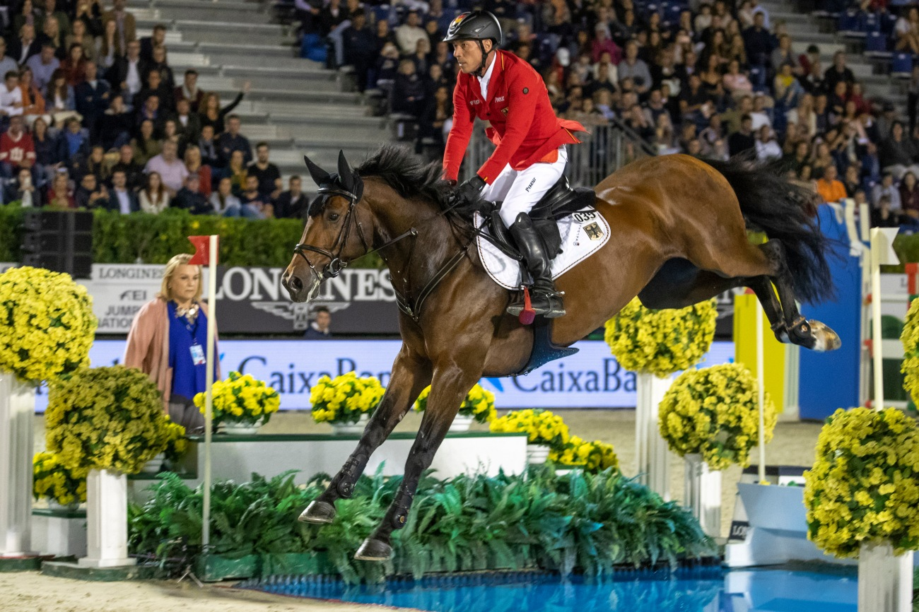 Challenege Cup jumping in the FEI Longines Nations Cup equestrain event in Barcelona