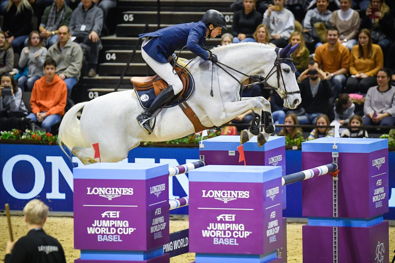 Martin Fuchs riding Clooney at Longines FEI Jumping World Cup™