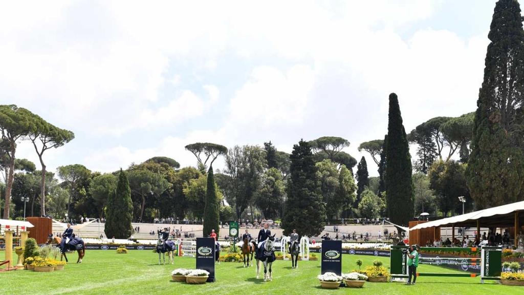 2019.05.24.99.99 Rome CSIO 5 Land Rover Cel Mark McAuley & Valentino Tuiliere CONI Simone Ferraro