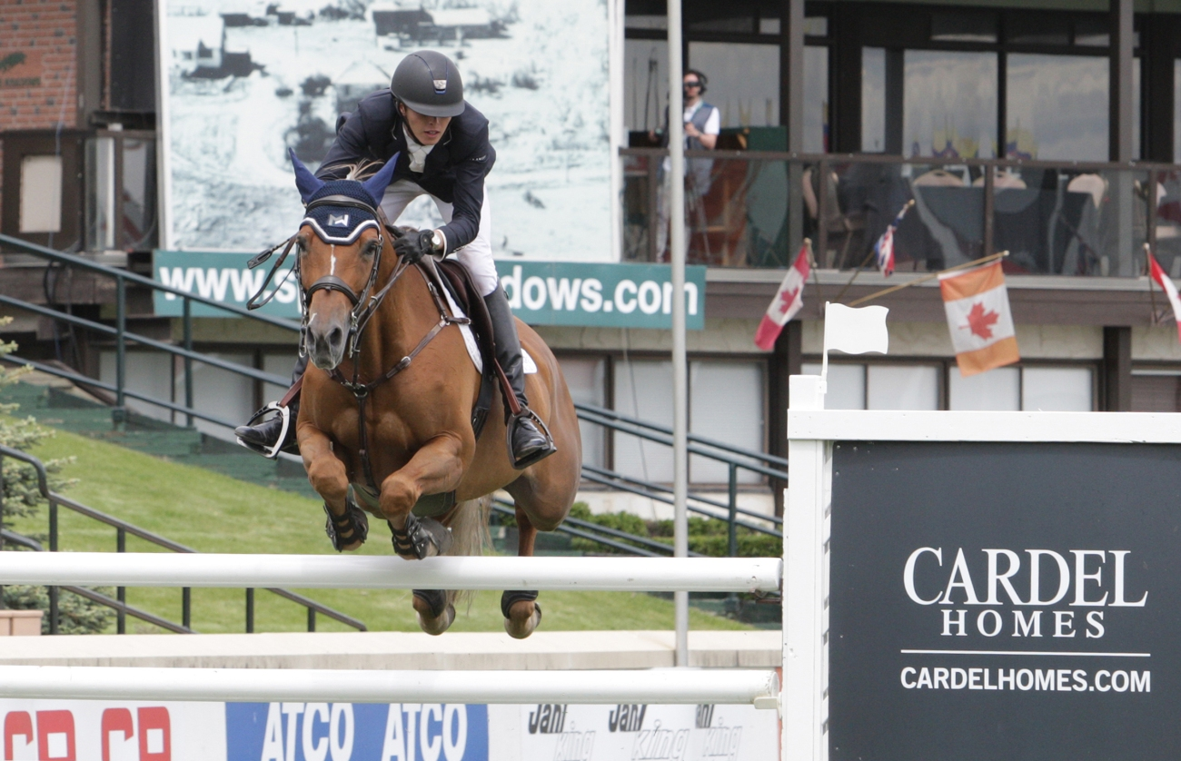 Brian Moggre of USA riding MTM Flutterby winner of the Cardel Homes Cup