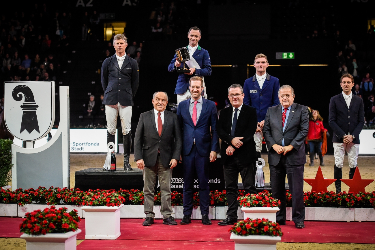 2020.01.12.99.99 Basel CSI 5 Championat Podium Denis Lynch Katja Stuppia