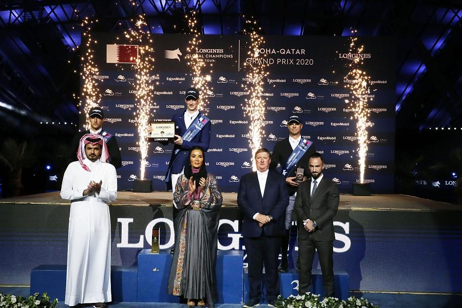 2020.03.08.99.99 LGCT Doha CSI 5 Podium Daniel Deusser LGCT SG